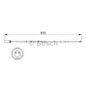 Сигнализатор, износ тормозных колодок 1987473522 bosch - MINI MINI COUNTRYMAN (R60) Наклонная задняя часть Cooper S ALL4