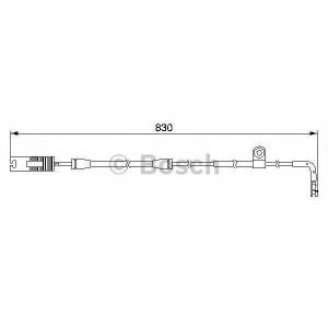 Сигнализатор, износ тормозных колодок 1987474958 bosch - BMW 5 (E39) седан 520 i
