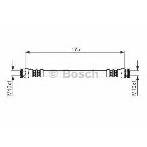 Тормозной шланг 1987476012 bosch - SKODA FELICIA I (6U1) Наклонная задняя часть 1.9 D