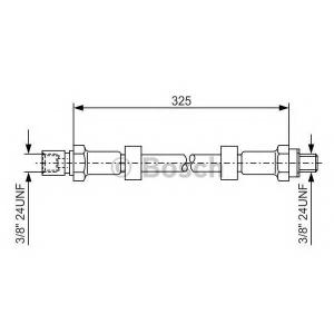 BOSCH 1987476130 Rubber brake hose