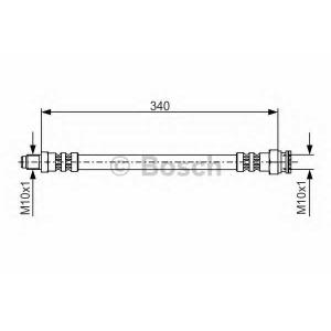 BOSCH 1 987 476 393 Тормозной шланг (пр-во Bosch)