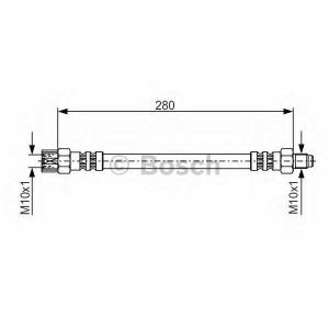 Тормозной шланг 1987476396 bosch - MERCEDES-BENZ C-CLASS (W202) седан C 180 (202.018)