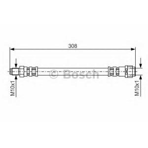 Тормозной шланг 1987476427 bosch - MERCEDES-BENZ E-CLASS (W210) седан E 220 CDI (210.006)