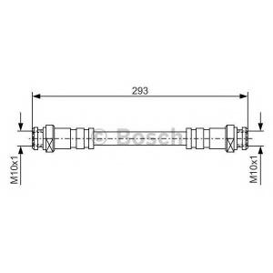 BOSCH 1987476543 Rubber brake hose