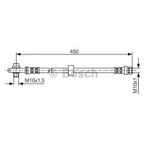 1987476648 bosch Тормозной шланг AUDI A3 Наклонная задняя часть 1.6