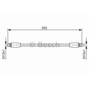 Тормозной шланг 1987476717 bosch - AUDI A4 (8D2, B5) седан 2.8