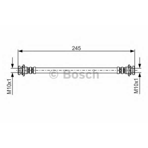 BOSCH 1 987 476 969 Шланг тормозной DAEWOO MATIZ задний (пр-во Bosch)