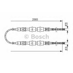 Трос, стояночная тормозная система 1987477041 bosch - VW PASSAT (32B) Наклонная задняя часть 1.3