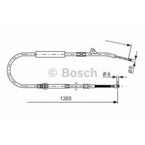 Трос, стояночная тормозная система 1987477533 bosch - BMW 7 (E38) седан 730 d