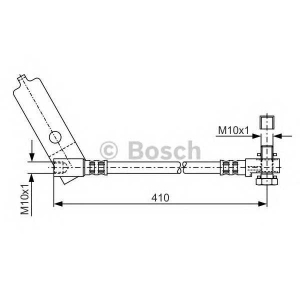 BOSCH 1987481046 Rubber brake hose