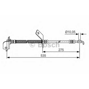 BOSCH 1987481415 Rubber brake hose