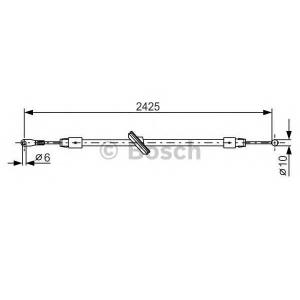 BOSCH 1987482031 Трос, стояночная тормозная система