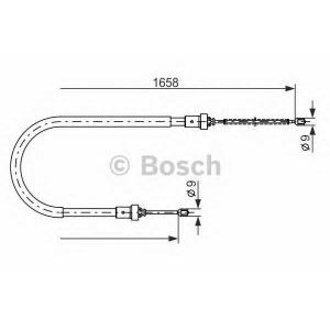 Трос, стояночная тормозная система 1987482234 bosch - DACIA LOGAN MCV (KS_) универсал 1.6 MPI 85