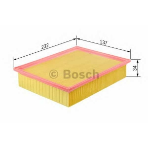 Воздушный фильтр f026400101 bosch - NISSAN QASHQAI / QASHQAI +2 (J10, JJ10) вездеход закрытый 1.5 dCi