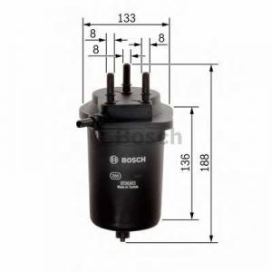 BOSCH F026402080 Паливний фільтр - заміна на  0450907008