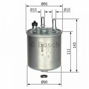 BOSCH F026402081 Паливний фільтр 2081 Renault Kangoo, Laguna