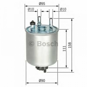 BOSCH F026402082 Паливний фільтр 2082 RENAULT Kangoo/Laguna ''1.5-3.0 ''07>>