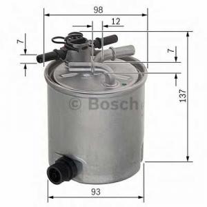 BOSCH F026402096 Фильтр топл. NISSAN PATHFINDER 2.5 (пр-во Bosch)