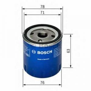 BOSCH F026407022 Масляний фільтр 7022 OPEL/RENAULT Clio,Megane,Scenic,Master,Trafic,Movano,Vivaro 99-06