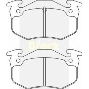 BRECK 20635 00 702 10 Комплект тормозных колодок, дисковый тормоз Ситроен Бх Брейк