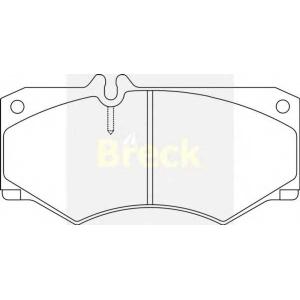 BRECK 20784 00 703 10 Комплект тормозных колодок, дисковый тормоз Мерседес