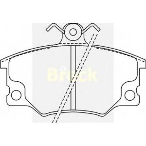 BRECK 20833 00 701 10 Комплект тормозных колодок, дисковый тормоз Фиат Ритмо