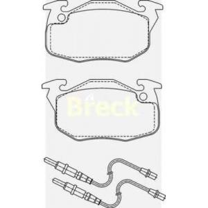 BRECK 20906 00 702 10 Комплект тормозных колодок, дисковый тормоз Ситроен С15