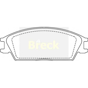BRECK 21012 00 701 00 Комплект тормозных колодок, дисковый тормоз Хюндай Понни Эксель