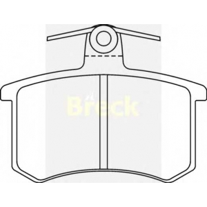 BRECK 21144 00 704 00 Комплект тормозных колодок, дисковый тормоз Ауди В8