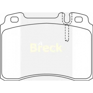 Комплект тормозных колодок, дисковый тормоз 211530070120 breck - MERCEDES-BENZ E-CLASS (W124) седан E 280 long (124.029)