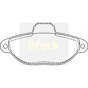 BRECK 21436 00 702 00 Комплект тормозных колодок, дисковый тормоз Фиат