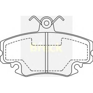 BRECK 214630070210 Гальмівні колодки, дискові