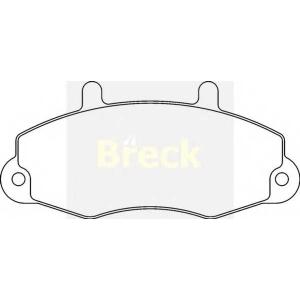 BRECK 21470 00 701 00 Тормозные колодки передние FORD TRANSIT 91-00    14 диск