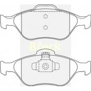 BRECK 23202 00 702 00 Комплект тормозных колодок, дисковый тормоз Форд Фьюжн