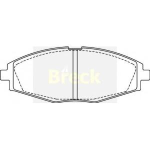 BRECK 23241 00 702 00 Комплект тормозных колодок, дисковый тормоз Дэу Матиз