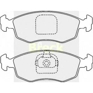 BRECK 23552 00 702 00 Комплект тормозных колодок, дисковый тормоз Фиат Страда