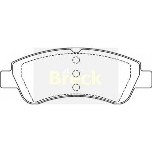 BRECK 23599 00 701 00 Комплект тормозных колодок, дисковый тормоз Ситроен С Элизи