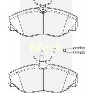 Комплект тормозных колодок, дисковый тормоз 236020070310 breck - PEUGEOT BOXER автобус (230P) автобус 2.0 i