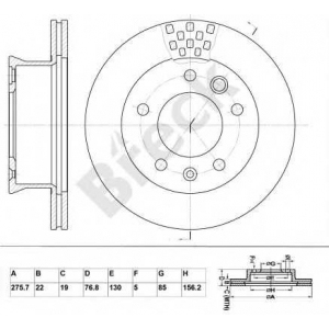 BRECK BR 325 VA100 Тормозной диск Мерседес Спринтер 2Т