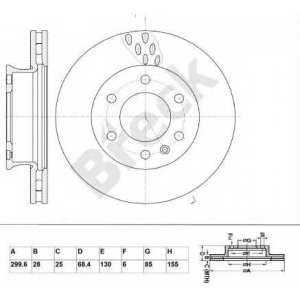 BRECK BR 352 VA100 Тормозной диск Мерседес Спинтер 5Т
