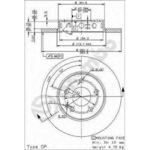 BRECO BS 7566 тормозные диски