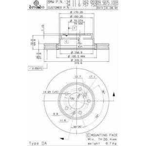BRECO BS 8143 тормозные диски