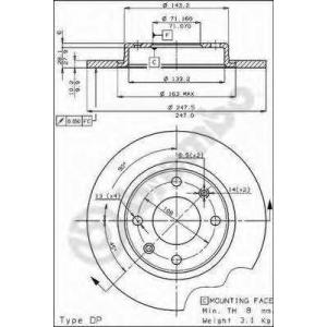 BREMBO 08298520 Тормозной диск