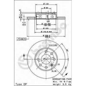 BREMBO 08.4475.10 Тормозной диск Brembo