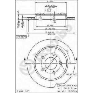BREMBO 08.4931.10 Тормозной диск Brembo