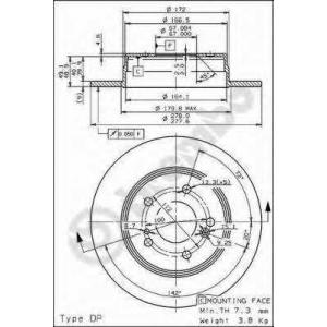 BREMBO 08.5178.31 Тормозной диск
