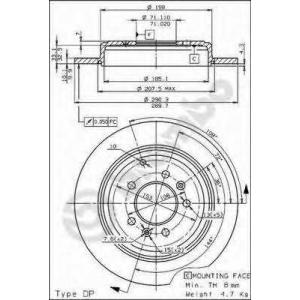 BREMBO 08534420 Тормозной диск