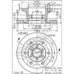BREMBO 08595910 Тормозной диск
