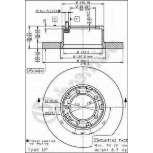 BREMBO 08.6923.20 Тормозной диск Мерседес