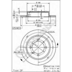 BREMBO 08.7042.10 Тормозной диск Brembo
